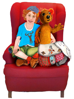 Tata&Squack in the Red Chair