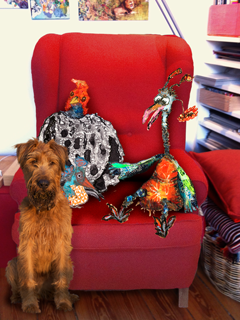 The 3irds in the Red Chair