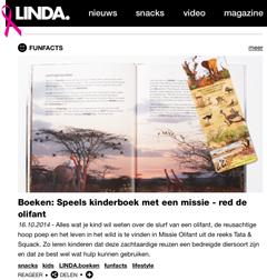 """LINDA: """"Speels kinderboek met een missie – red de olifant"""""""